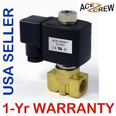 38 Inch Normally Open 12v Dc Vdc Brass Solenoid Valve Npt One-year Warranty