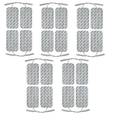 20x Elektroden Pads 10x5cm PIN für TENS EMS Gerät 2mm-Stecker Sparpack-axion®