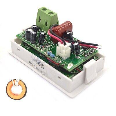 Digital Ac100-300v Blue Lcd Display Panel Voltamp Meter With Split 0-100a Ct