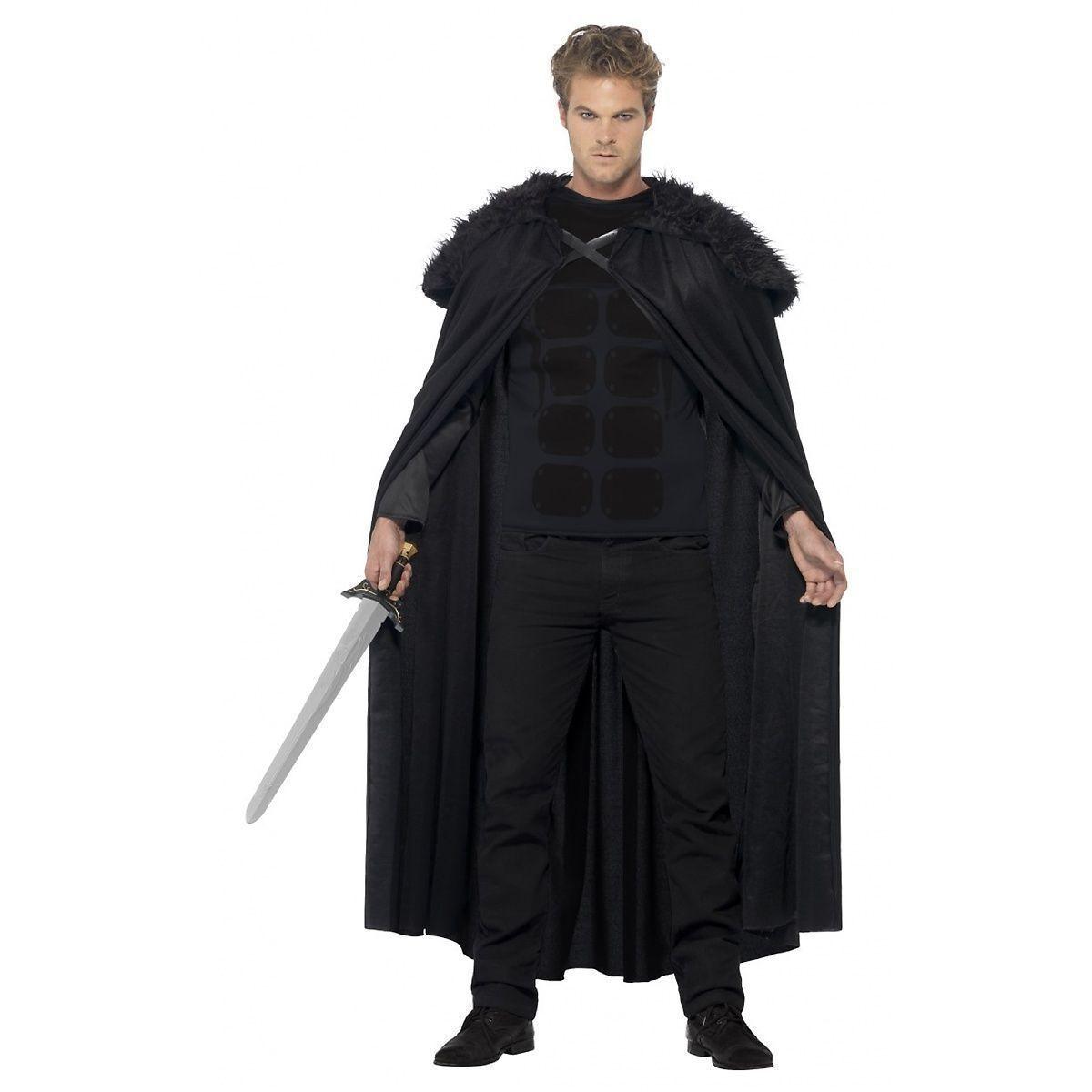 Men/'s taglia unica John Snow Deluxe mantello con colletto Peluche Costume
