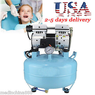 Dental Medical Noiseless Oilless Air Compressor 30l 550w 34hp2-5 Days To Us