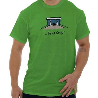 Life is Crap Bowling Split Funny Shirt Cool Gift Idea Pins Classic T Shirt Tee - Bowling Gift Ideas