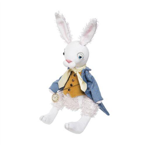 New Spring Easter Folk Art Collectible ALICE WONDERLAND WHITE RABBIT DOLL Figure