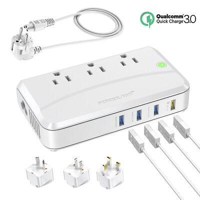 220V to 110V Step Down Travel Voltage Converter Adapter International UK/AU/EU (Travel Voltage Converter)