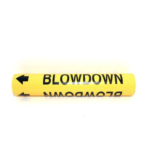 "Brady 5636-I High Performance - Wrap Around Pipe Marker, Legend ""Boiler Blowdown"