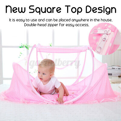 Foldable Mosquito Net Folding Baby Travel Bed Crib Canopy Pop up Beach Me
