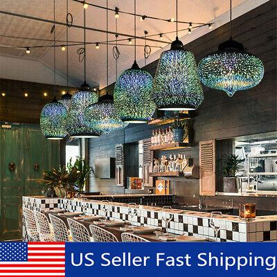 Modern 3D Colored Dinning Hanging Glass Ceiling Light Hallway Bar Pendant  Glass Bar 3 Light Pendant