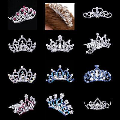 rown Hair Comb Wedding Bridal Headpiece Hair Accessories (Mini-tiara)