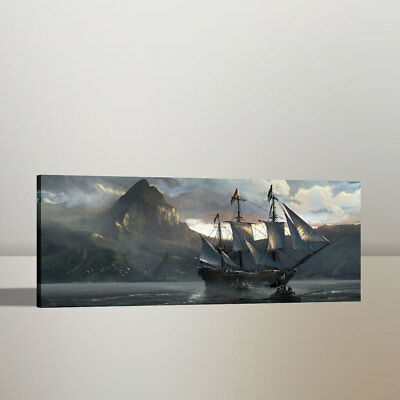 HD Print Home Wall Decor Art Painting Pirates of The Caribbean on Canvas 16x38 - Caribbean Decor