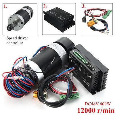 Cnc 400w Er11 Brushless Spindle Motor Driver Speed Controller Set For Engraving