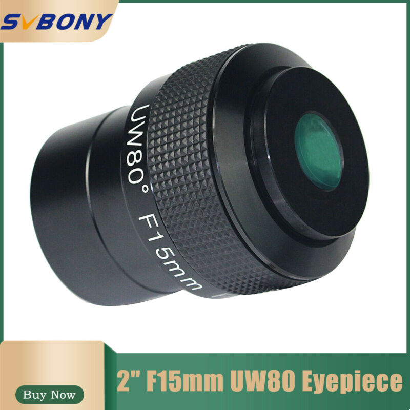 2inch F15mm Ultra Wide Angle 80° Telescope Eyepiece Fully Multi-Coated +Track