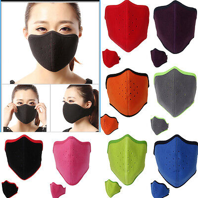 Ski Cycling Half Face Mask Soft Cotton Fleece Neck Ear Warmer For Cold Weather