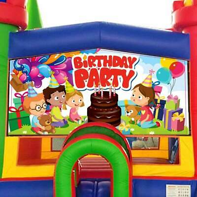 Birthday Party Vinyl Panel 13'x13' Inflatable Bounce House Detachable Banner