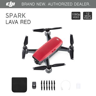 DJI Spark Lava Red Quadcopter Drone - 12MP 1080p Video