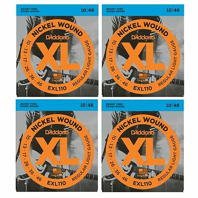 3 SETS  PLUS 1 FREE! D'Addario EXL110 Electric Guitar Strings 10-46 CHEAP!!!