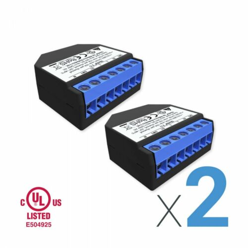 LOT of 2 Shelly 2.5 WiFi Double Relay Switch & Roller Shutter UL Listed(2 Pack)