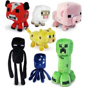 7 Minecraft Enderman Baby Mooshroom Pig Squid Ocelot Creeper Plush Soft Toy Gift