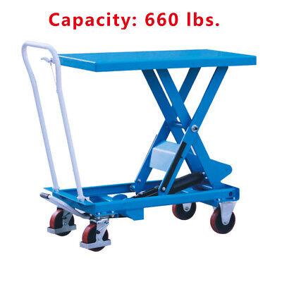Hydraulic Scissor Lift Table Cart 660 Lbs. Capacity Eoslift Ta30 19.7x32.1