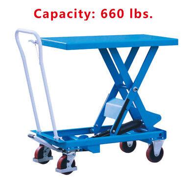 Hydraulic Scissor Lift Table Cart 660 Lbs. Capacity Eoslift Ta30 19.7x32.1