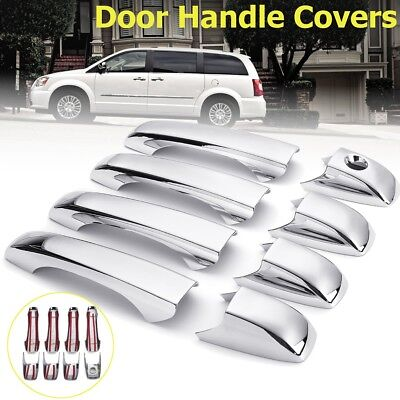 8Pcs Chrome Door Handle Covers Trim For Chrysler 300 Dodge Magnum Avenger Jeep Dodge Magnum Chrome Door Handle