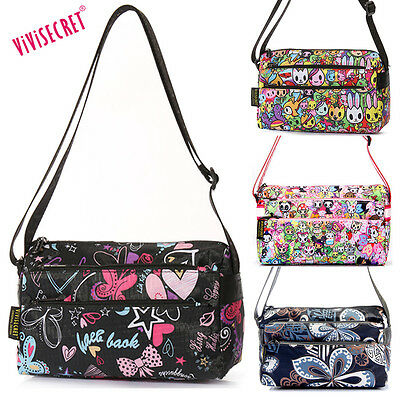 Women Small Nylon Handbag Cartoon Crossbody Messenger Bag To