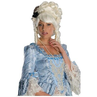 Marie Antoinette Wig with Black Rose Adult Womens Halloween Costume Fancy Dress