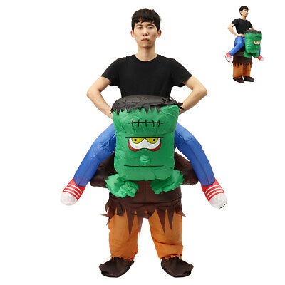 Adult Frankenstein Costume Scary Halloween Inflatable Blow Up Suit Party  - Inflatable Frankenstein Costume