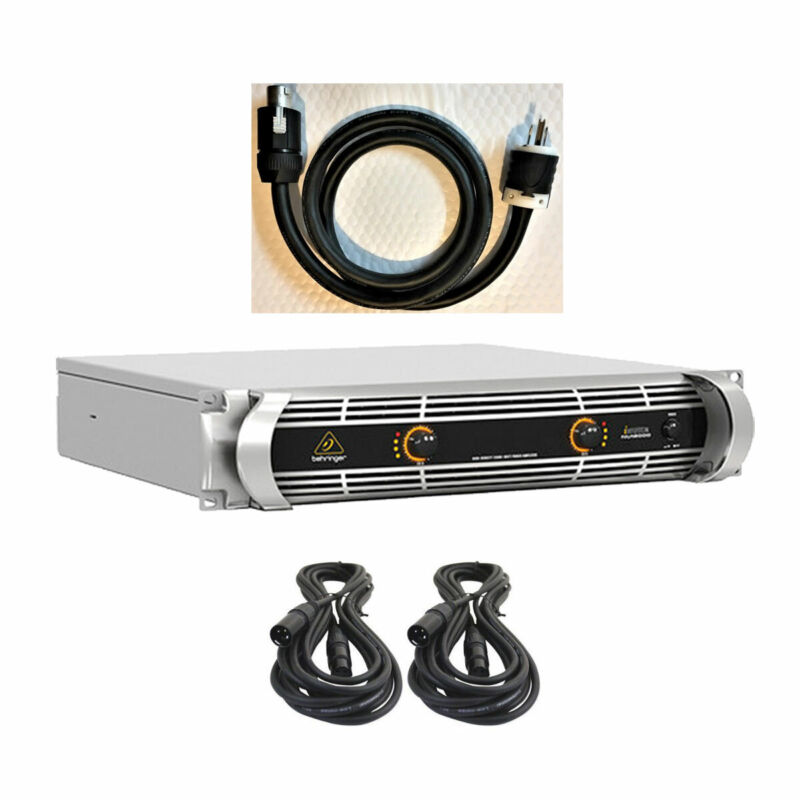 Behringer iNUKE NU12000 High-Density 12000W Power Amplifier w/Power & XLR Cables