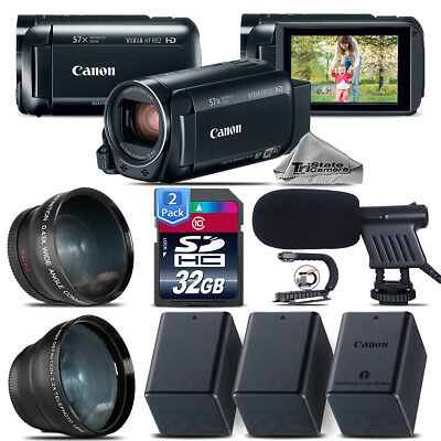 Canon VIXIA HF R800 + Telephoto & Wide Angle Lens + Shotgun Mic - 64GB Bundle