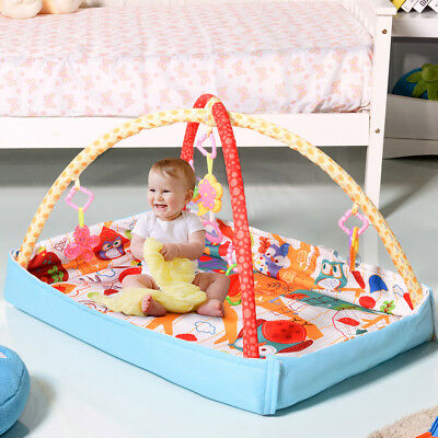 3 In 1 Multifunctional Baby Infant Activity Gym Play Mat Musical W/Hanging Toys
