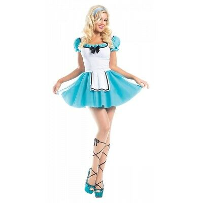 Alice in Wonderland Costume Adult Sexy Halloween Fancy Dress