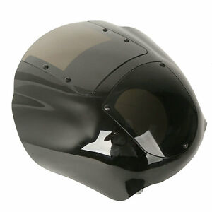 Vivid Black Quarter Fairing & Windshield For Harley Dyna Fat Bob 95-05 FXR 86-94