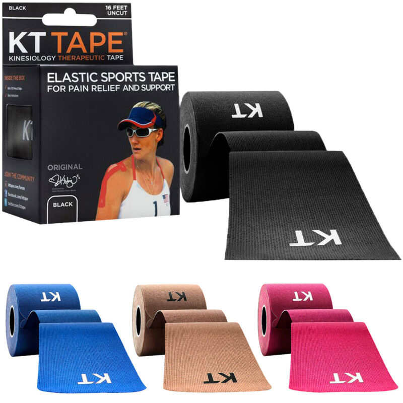 KT Tape Cotton 16 ft Uncut Kinesiology Therapeutic Elastic Sports Tape Roll