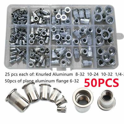 150x Rivet Nut Mixed Aluminum Rivnut Insert Nutsert Threaded Inch Sae Imperial G