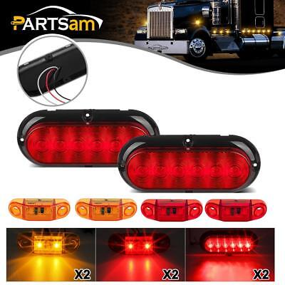 Submersible LED Trailer Light kit,Stop Turn Tail,Utility,RV,Camper,Surface Mount
