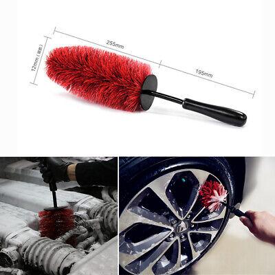 "18"" Long Master Wheel Brush Car SUV Tire Rims Chrome Spokes Wash Cleaning Tool"