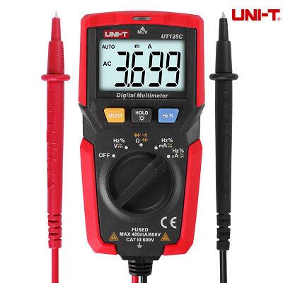 Uni-t Ut125c 600v Digital Multimeter Volt Ac Dc Tester Meter Voltmeter Ohmeter