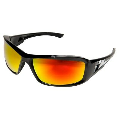 Edge Brazeau Safety Glasses With Red Mirror Lens Black Frame