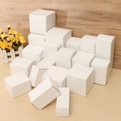 White Cardboard Boxes Gift Jewelry Perfume Wedding Candy Packing Shop Package