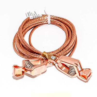 Static Discharge Grounding Cable Wire 6awg Bare Copper To 21cpn Clips 100amp 12