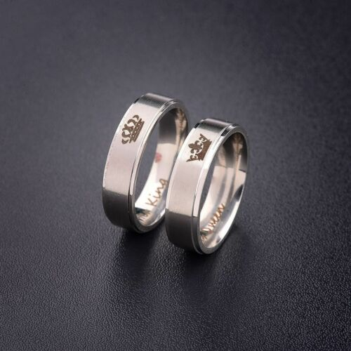 His Queen And Her King Titanium Steel For Lover Engagement C