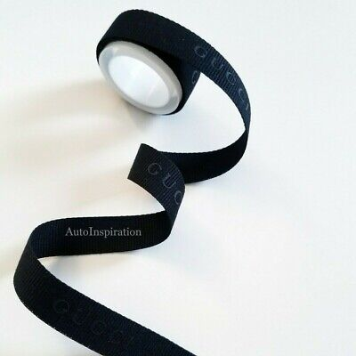 GUCCI Made in ITALY Grosgrain GIFT RIBBON Black embossing 5/8