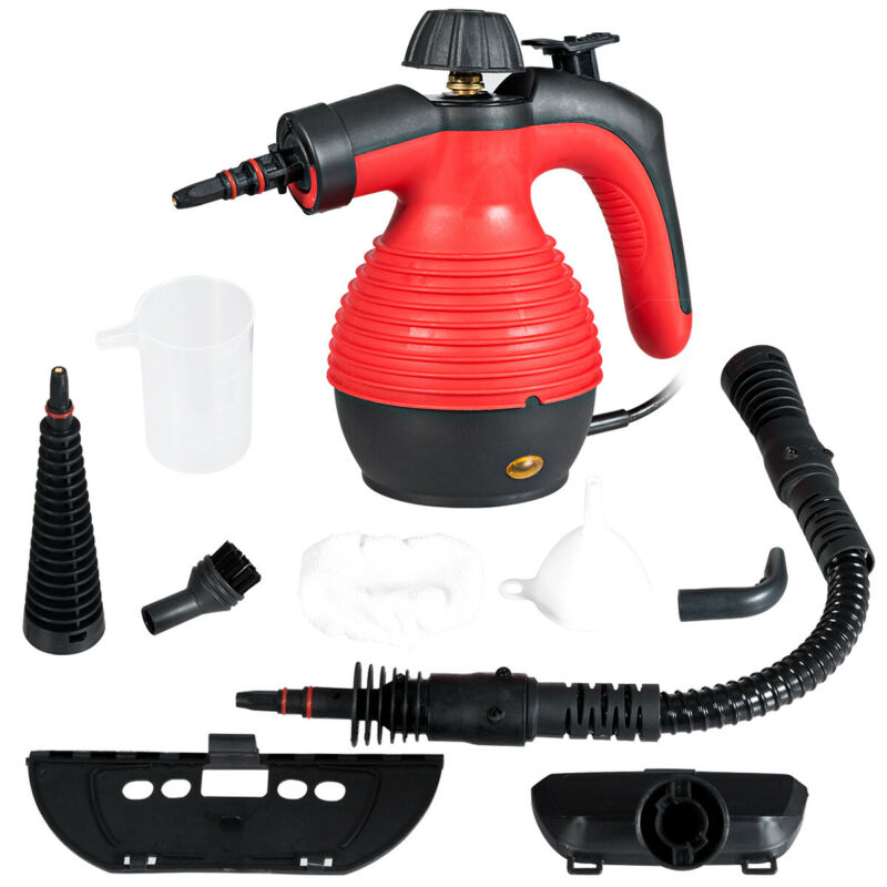 Multifunction Portable Steamer Household Steam Cleaner 1050W W/Attachments Red