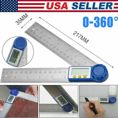 8 Electronic Digital Protractor Goniometer Angle Finder Miter Gauge Wbatteries