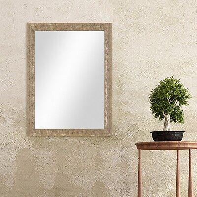 Strand Weiße Spiegel (Spiegel Strandhaus-Stil Holz Rustikal Eiche Blau Weiss Grau Foto Rahmen Wanddeko)