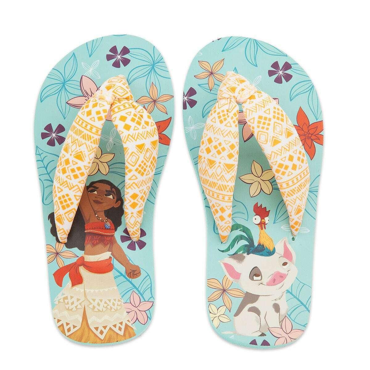 NWT Disney Store Moana Flip Flops Sandals Shoes Girls many s