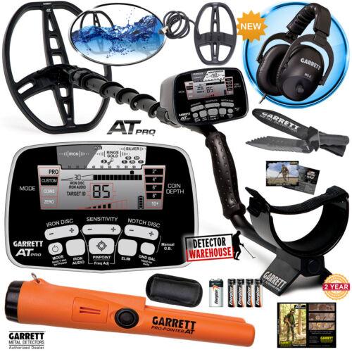 Garrett AT PRO Metal Detector with 2 Coils, Headphones, Pro-Pointer AT, & Digger