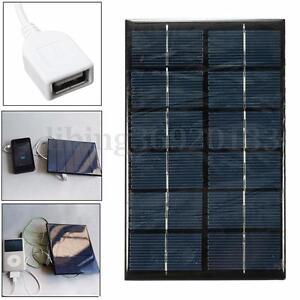 6V 2W Mini Polykristalline Solarmodul Solarpanel USB Ladegerät DIY für phone