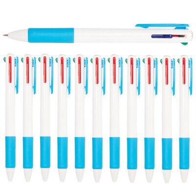12pk Simply Genius Retractable 4-in-1 Multi Color Ballpoint Multicolor Pens