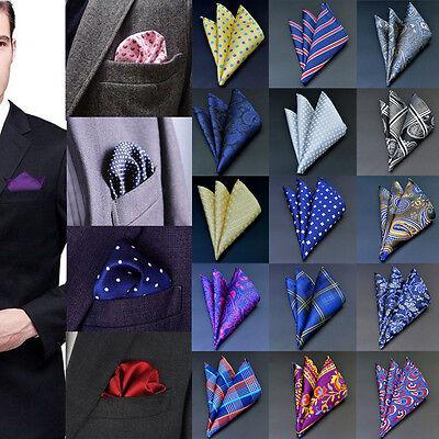 Men Pocket Square Handkerchief Korean Silk Paisley Floral Wedding Party lot